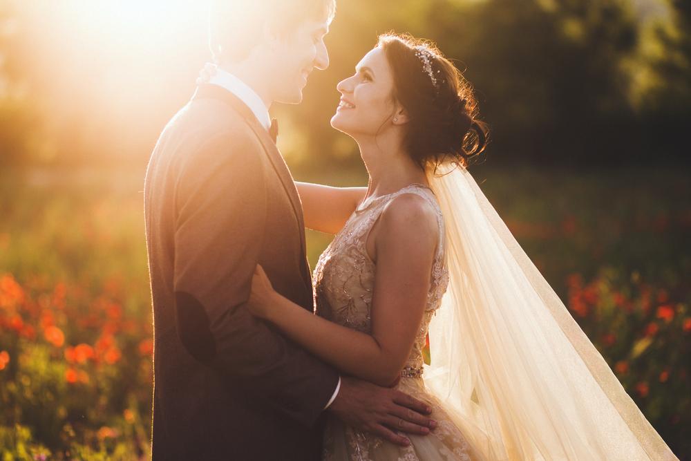 Das Ziel eines jeden Zeremonienmeisters: Ein strahlendes Brautpaar