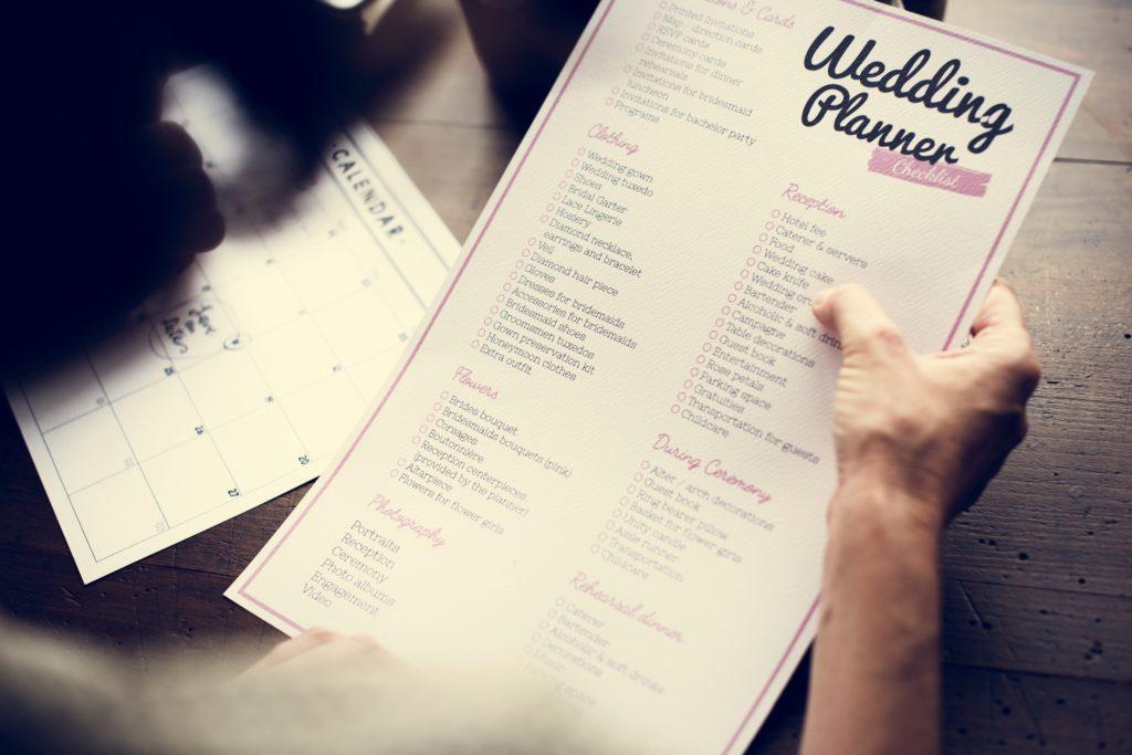 Hochzeitsplanung Checkliste