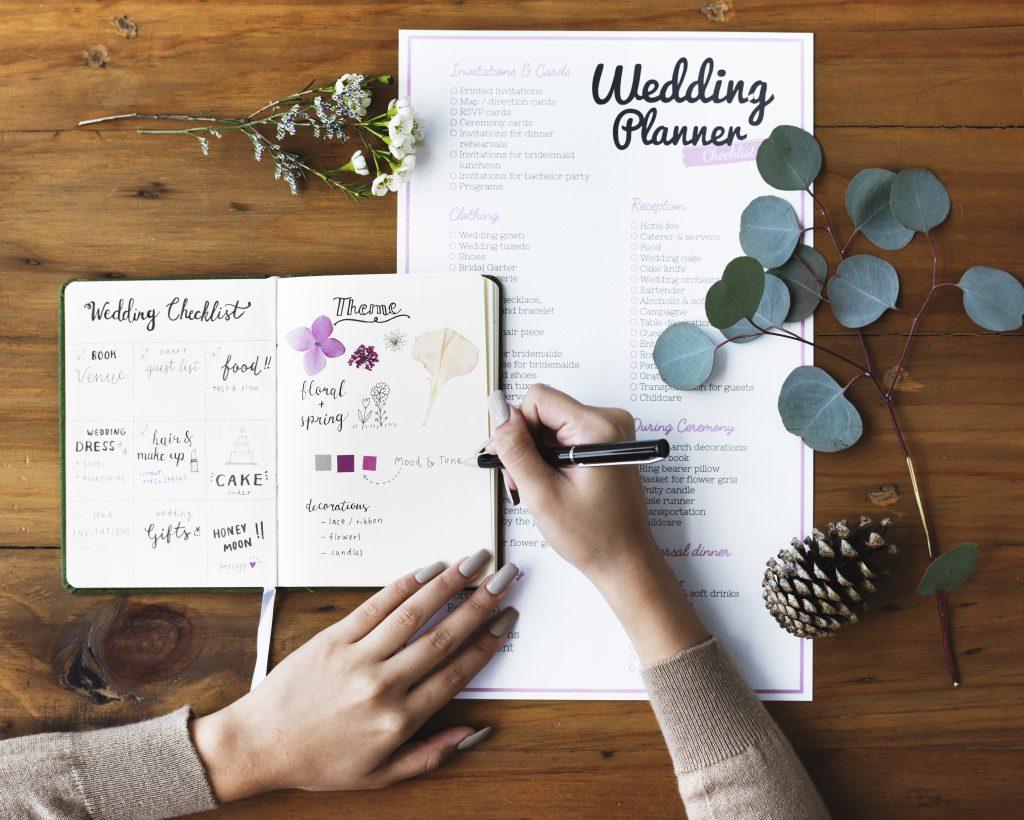 Hochzeitsplanung Schritte