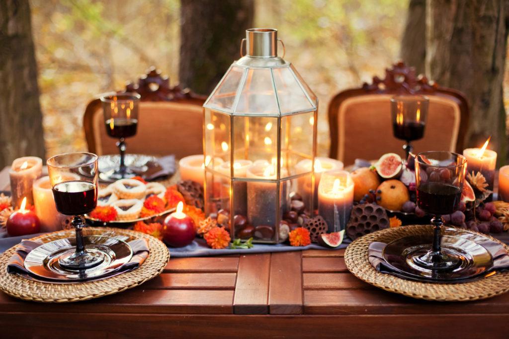 Herbsthochzeit Tischdekoration