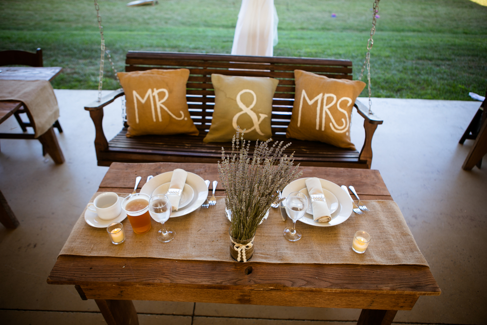 Brauttisch Gartenhochzeit
