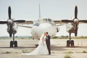 Hochzeitsfotos am Flughafen