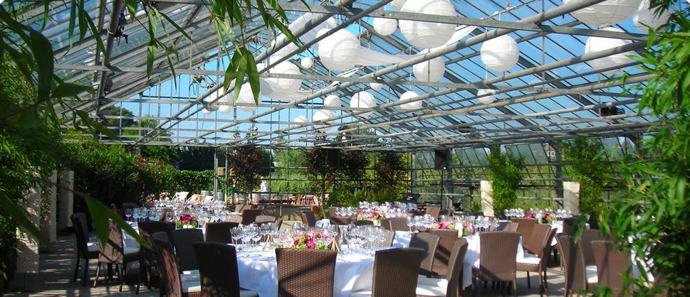 außergewöhnliche Hochzeitslocation Glashaus Decher