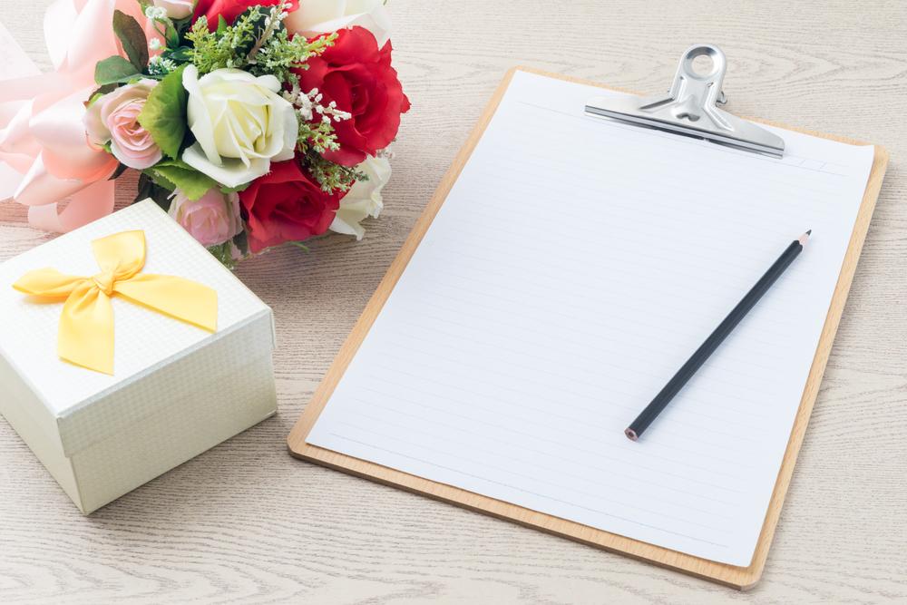 Zeitplan für den Hochzeitstag