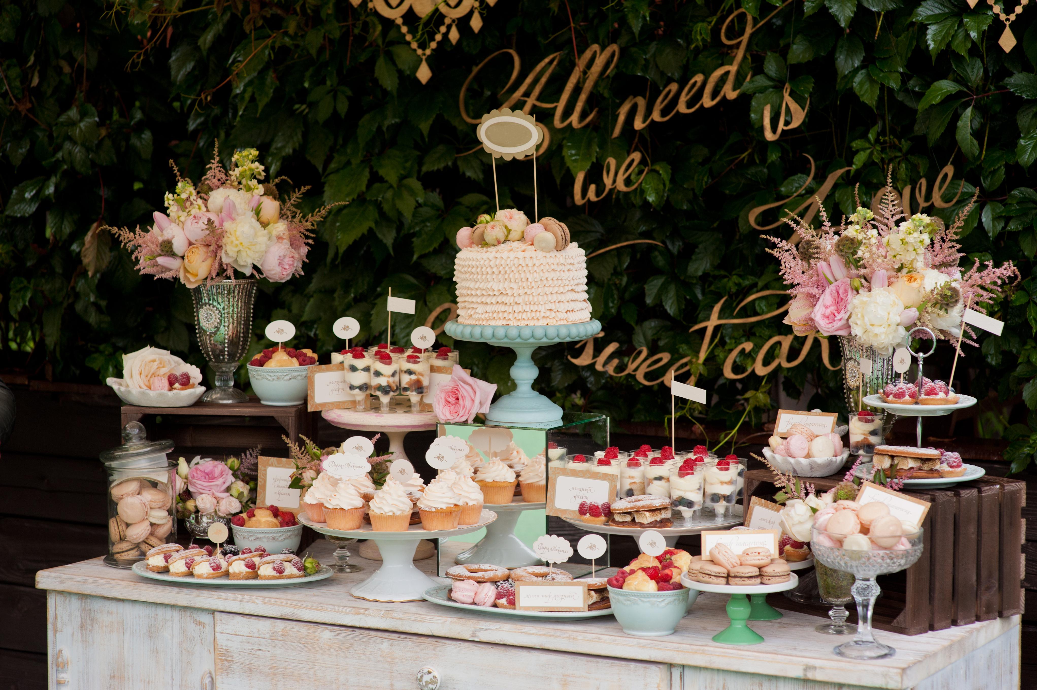 Hochzeitskonzept Torte und/oder Sweet Table sollten farblich und thematisch zum Motto passen