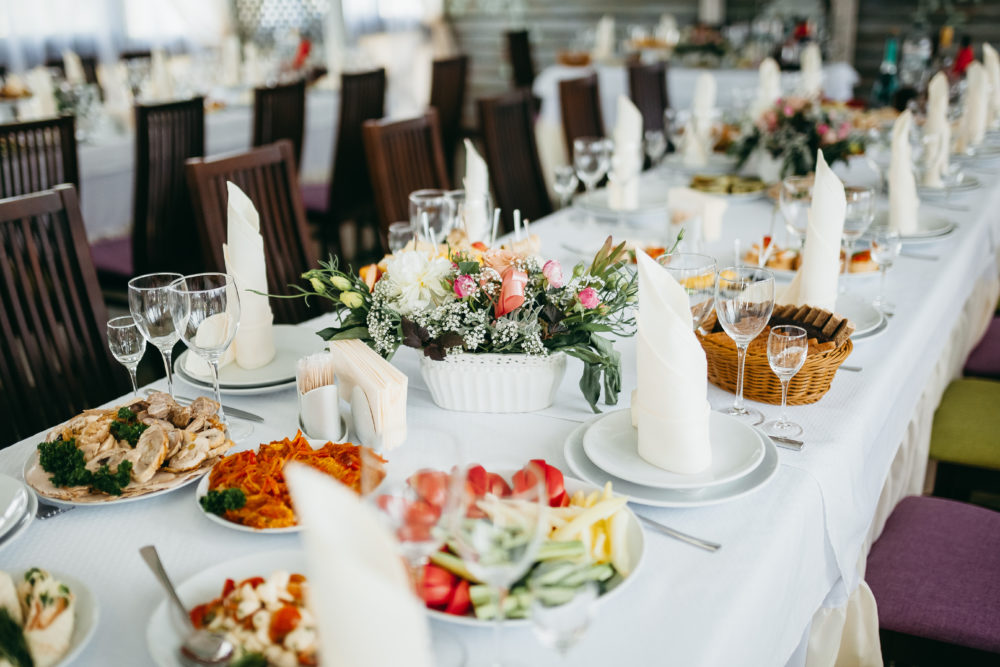Hochzeits-Catering Probeessen