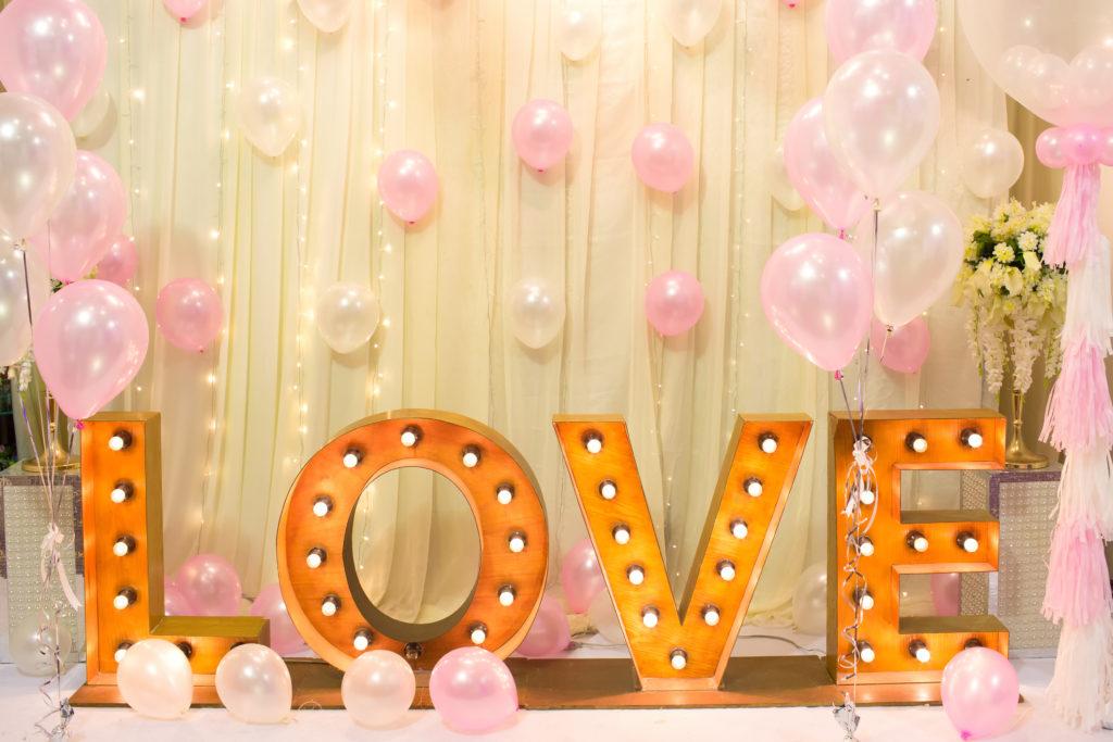 Hochzeitsluftballons Love Buchstaben Luftballons