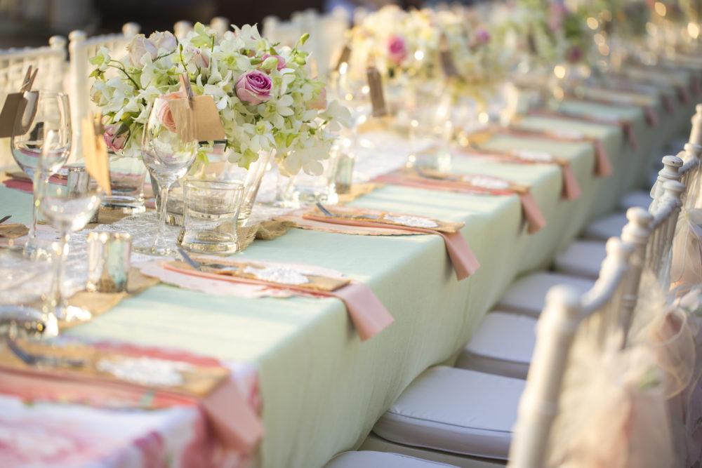 Tischordnung der Hochzeit Tafel