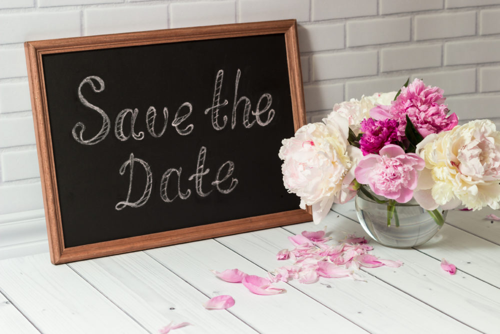 Hochzeitstermin festlegen Save The Date