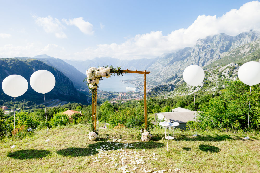 Vegane Hochzeit biologisch abbaubare Hochzeitsballons