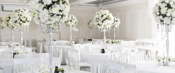 All White Hochzeit tischdekoration weiß