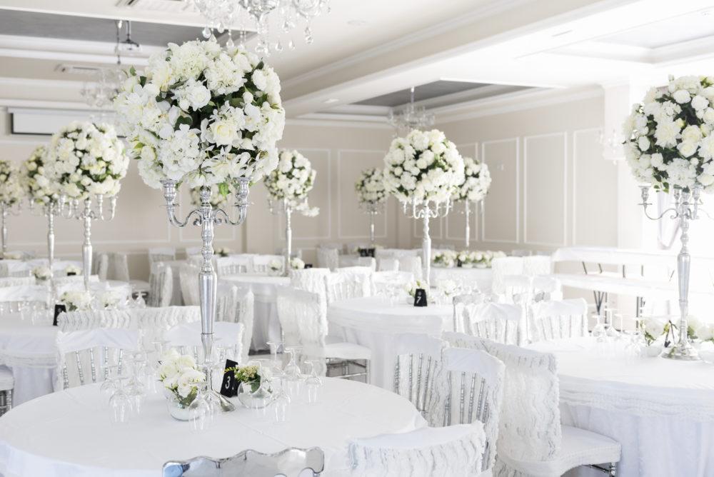 All White Hochzeit tischdekoration weiß Hochzeit in Weiß