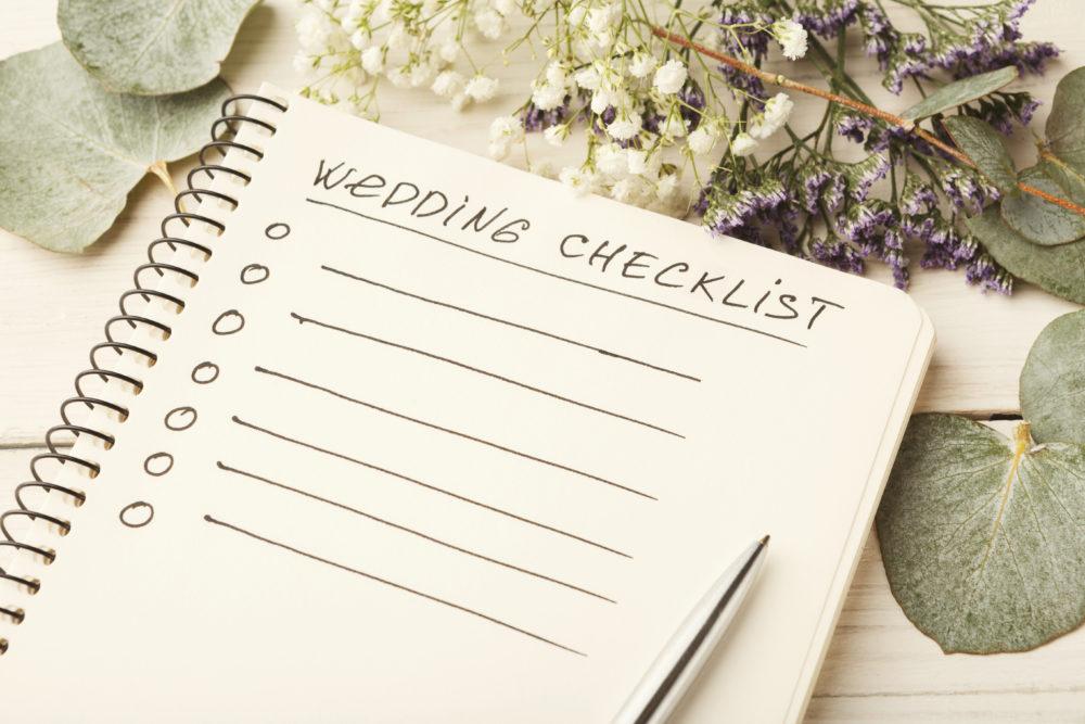 Säulen der Hochzeitsplanung Checkliste
