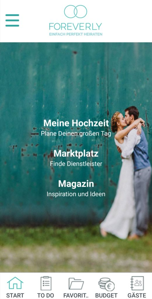 Hochzeits-Apps: Foreverly