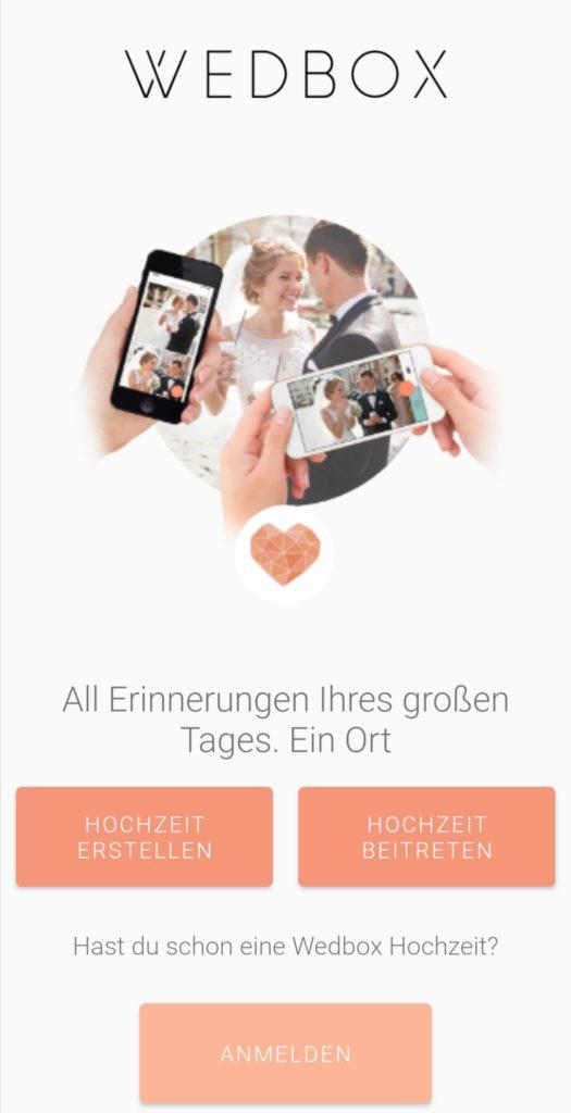 Hochzeits-Apps: Wedbox