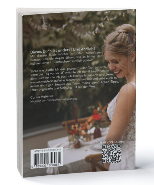produkt hinter den kulissen einer traumhochzeit hochzeitsbuch hinten Carinas Hochzeitsplanung Carinas Bundle