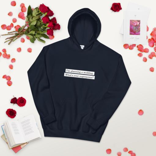 unisex heavy blend hoodie navy front 2 carinas hochzeitsplanung Carinas Hochzeitsplanung Superpower Hoodie (Unisex-Kapuzenpullover)