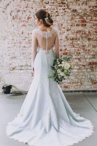 Winterhochzeit Brautkleid Idee