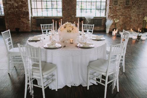Winterhochzeit Tisch